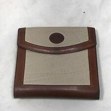 Vintage Dooney and Bourke Tan Brown Leather Pebblestone Square Wallet