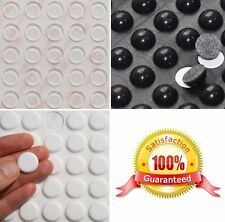 small & large 3M RUBBER FEET ~ Black, Clear, White ~ SELF ADHESIVE Stick On Dots