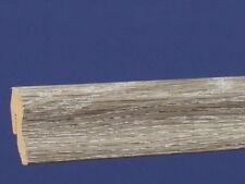 Sockelleiste Bodenleiste Fußleiste clippfähig Dekor Eiche Grau
