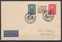 G3331/ GERMANY REICH / AUSTRIA – 1938 MIXED FRANKING AIRMAIL COVER