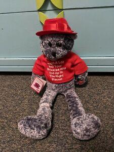 PBC Chantilly Lane Musical Animated plush Bear  plays: WHEN I'M 64 BEATLES
