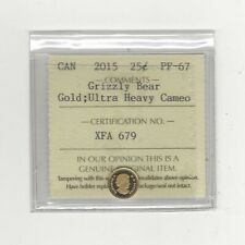 2015 Canada, GOLD Grizzly Bear  ¢25 ICCS Graded **PF-67 UHC GOLD**