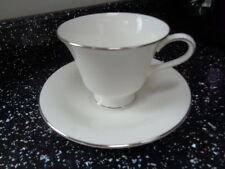 WEDGWOOD SILVER ERMINE CUP AND SAUCER