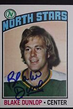 1976 TOPPS # 263 BLAKE DUNLOP NORTH STARS SIGNED AUTOGRAPHED NHL HOCKEY CARD