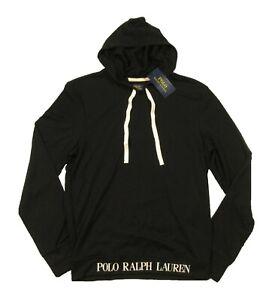 Polo Ralph Lauren Men's Black Soft Terry Hooded Sleep T-Shirt
