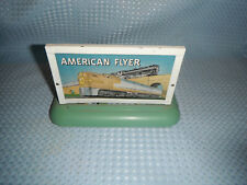 Vintage Gilbert American Flyer Train Light Up Advertising Tin Litho Sign