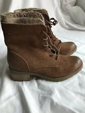 MOSSIMO WOMENS DEZ LACE UP WINTER BOOTS, BROWN, SIZE 7 NWT