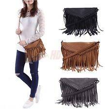 Fashion Fringe Crossbody Bag Shoulder Handbag Womens Pu Leather Tassels Purse Ebay