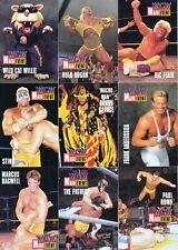 WRESTLING WCW MAIN EVENT 1995 CARDZ PARTIAL BASE CARD SET OF 98/100 WWF WWE