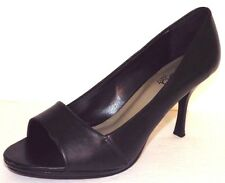 Diba East 8.5 M Black Faux Leather Peep Toe Stilletto High Heels Shoes