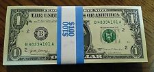 New Money Usd $1 Dollar Uncirculated Bill - Sn# In Order with B- Series 2017