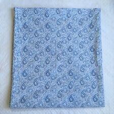 Ralph Lauren The Landing Queen Flat Top Sheet Blue White Paisley