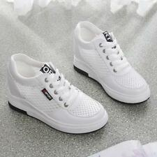 Women Leisure Mesh Conceal Wedge Heel Lace Up Sneaker Sport Shoe  Breathable Hot
