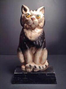 Hubley Cast Iron Cat Doorstop