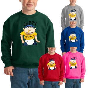 Jeffy Puppet Kids Sweatshirt Youtuber Boy Girl Children Cartoon