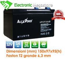 Batteria Ermetica Ricaricabile al Piombo 12V Volt 14Ah Alcapower AP12V14AH
