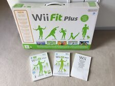 Nintendo Wii Fit Plus Balance Board And Game, With Original Box And Instructions