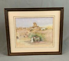 ATT William Russell Flint Middle Eastern Landscape Watercolour Painting