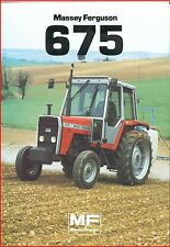French Original  Prospect  Tracteur Tractor Massey Ferguson MF 675 _  2 Pages