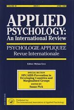 Applied Psychology: An International Review (HIV/AIDS Prevention in Developing C
