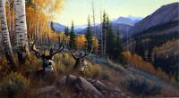 Michael Sieve Indian Summer Deer Art Print Signed and Numbered Artists Proof