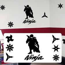 Ninja silhouette, Ninja martial artist decal,fathead style sticker decal karate