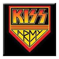 "KISS Army fridge magnet 3"" square metal gift free UK P&P"