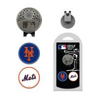MLB New York Mets Golf Cap Clip and 2 Ball Markers Set Hat Enamel