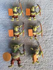 6x Plastic Toy Warrior Trolls