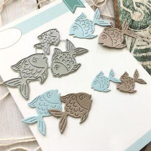 Small Fish Metal Cutting Dies Cut Die Mold Scrapbook Embossing Paper Card Craft
