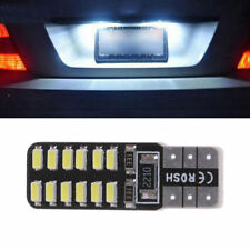 2x 194 W5W White LED Canbus Error Free License Plate Light T10 3014 24SMD Blubs