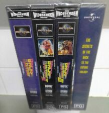 BACK TO THE FUTURE WIDESCREEN PAL VHS FACTORY SEALED BOX SET 15TH ANNIVERSARY
