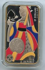 GN655 - Canada 15 Dollars 2008 KM#806 Queen of Spades - Silver Rectangular