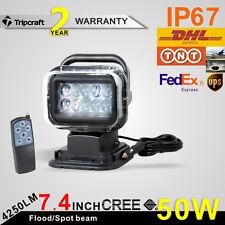 "7"" 50W CREE Wireless LED Auto Search Spot Light Remote Control Working Headlamp"
