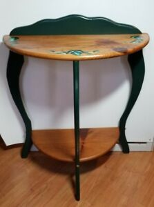 Vintage Farmhouse Vine Half Moon Console Table
