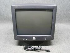 """Retro Dell M782 17"""" CRT Video Game CRT Monitor w/ Base *Tested*"""