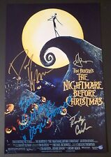 """NIGHTMARE BEFORE CHRISTMAS Cast(x4) Hand-Signed """"DANNY ELFMAN""""11x17Photo (PROOF)"""