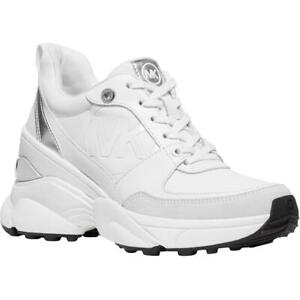 MICHAEL Michael Kors Womens Mickey  White Fashion Sneakers 6.5 Medium (B,M) 6491