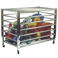 Lockable Steel Gym School Equipment Ball Cart - 106x62x81cm - New