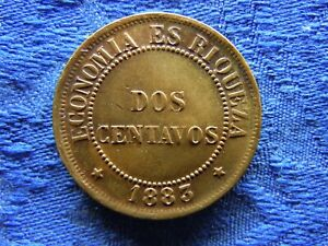 CHILE 2 CENTAVOS 1883, KM147a cleaned