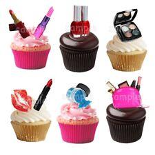 Make-Up Lippenstift Rouge Eßbar Tortenbild Party Deko Muffinaufleger Cupcake neu