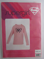 Mädchen-Shirt * Supergirl * Rosa * Grösse: 134/140 * Langarm * Neu * OVP