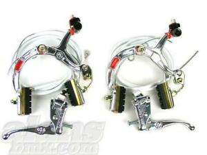 Dia-Compe MX1000 Complete Brake Set Pair Silver Old School BMX Skyway Burner GT