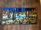 "Vintage Pheasant Quail Tapestry Wall Hanging Rug 36"" x 18"""
