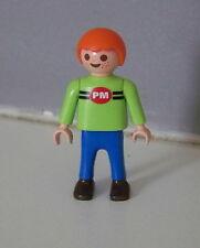 PLAYMOBIL (3140) ENFANT MODERNE - Garçon Pull Vert Pm Pantalon Bleu
