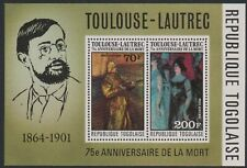 Togo #C293a MNH S/S CV$10.00 75th Anniv of Death of Toulouse-Lautrec