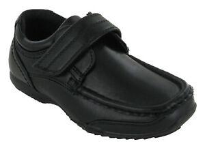 U.S.Brass BOYS Charlie Shoe Formal Smart Black Synthetic School UK11 Boys - UK6