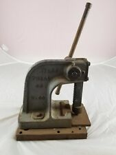 Vintage Atlas No. 00 Cast Iron Arbor Bench Press Kalamazoo Mich USA