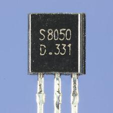 TRANSISTOR S8050 SILICIUM NPN 40V 500mA 625mW BOITIER PLASTIQUE TO92