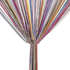 TRIXES String Dew Drop String Curtain -Multicoloured Door or Window Panel